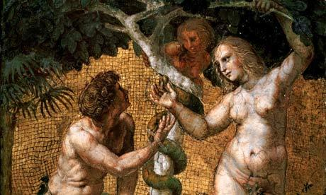 Creationism myth; science textbooks in some UK nursery schools teach the seven days of creation and Adam and Eve. Photograph; Getty Images