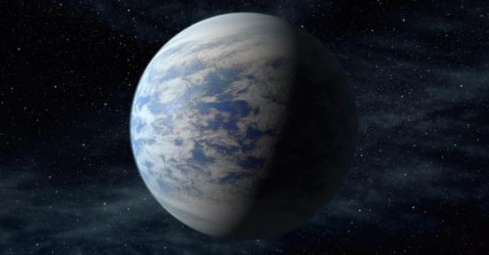 O Kepler-69c (em concepção artística na imagem) é tido como um super-Vênus, a 2.700 anos-luz da Terra. Ele é 70% maior do que nosso planeta e está na zona habitável de seu sistema planetário, com órbita de 242 dias, o que o coloca na região que fica Vênus em nosso Sistema Solar