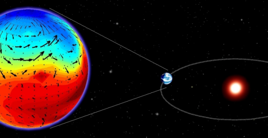 """Exoplaneta 581d, que gira ao redor da estrela-anã Gliese 581, é sete vezes mais maciço que a Terra e aparentemente rochoso. Detectado em 2007, a 20 anos-luz do nosso planeta, ele foi considerado na ocasião frio demais para ser """"habitável"""", categoria que alcançou apenas em 2011"""