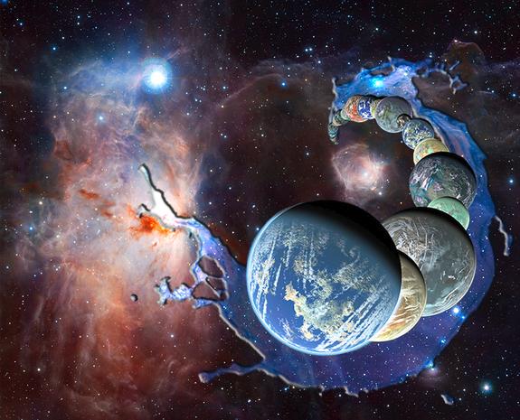 Os planetas formam na presença de água abundante interestelar herdada como sorvetes da nuvem molecular pai.  Crédito: NASA / JPL-Caltech / R. Hurt (SSC-Caltech) / ESO / J. Unidade Emerson / VISTA / Cambridge Astronomical Pesquisa