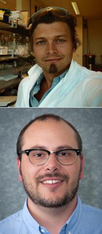 Pós-doutorando Frank Jacobs (acima) e o estudante David Greenberg (abaixo) são os primeiros autores do artigo da Nature. (Fotos cedidas por Sofie Salama)