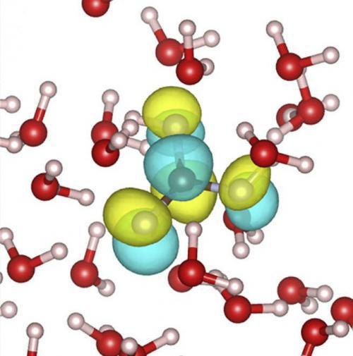 Embora exista ácido carbónico para apenas uma fracção de segundo antes de mudar para uma mistura de hidrogénio e iões de bicarbonato, que é crítico para a saúde tanto da atmosfera e o corpo humano. Crédito: Laboratório de Berkeley