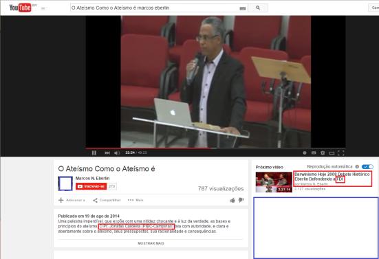 O organizador do Congresso do Design Inteligente postou este vídeo também na qual cita um pastor pregando sobre o ateísmo. Isso demonstra claramente o relacionamento entre o Design inteligente com o Criacionismo