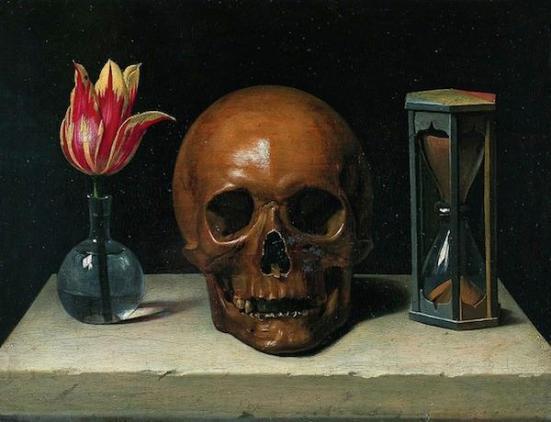 Ainda vida com crânio por Philippe de Champagne (1602-1674). (Wikimedia Commons)