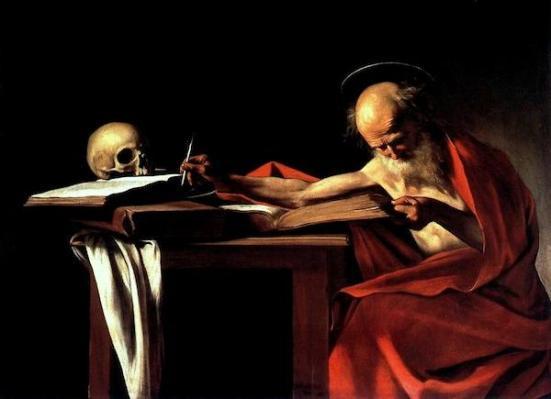 St. Jerome por Caravaggio (1573-1610). (Wikimedia Commons)