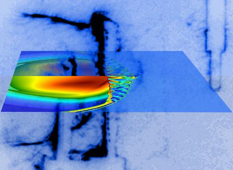 Processado imagem para o computador da Supernova produzido no laboratório (cortesia da Universidade de Oxford, Universidade de Chicago)
