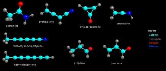 Moleculas orgânicas encontradas no espço