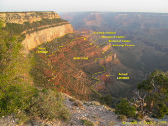 Plataforma de Supai e suas formações geológicas
