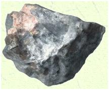 Agregado de cristais de montmorillonita (cinzas). Retirado de Museu da UNESP