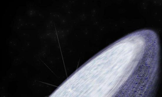 Impressão do artista do disco protoplanetário em torno do MWC 480. ALMA jovem estrela detectou o cianeto de metilo molécula orgânica complexa nos confins do disco na região onde são acreditados para formar cometas. Esta é outra indicação de que a química orgânica complexa, e, potencialmente, as condições necessárias para a vida, é universal. Crédito: B. Saxton (NRAO / AUI / NSF)