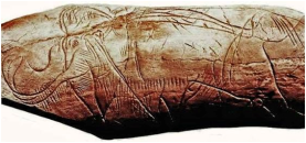 Mamute de Marfim de Madeleine-Dordogne datado do Paleolítico superior (40-10 mil anos)