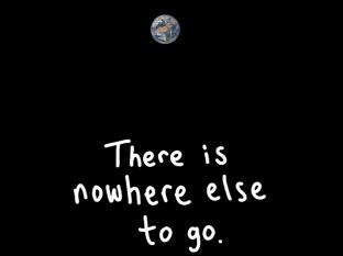 não há outro lugar para ir. Imagem modificada de um original por NASA, aqui