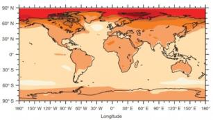 O aumento das temperaturas médias regionais em todo o mundo, quando as temperaturas médias globais chegar a 2 ° C acima dos níveis pré-industriais. Crédito: De papel da natureza dos autores, as emissões de CO2 admissíveis com base em metas climáticas regionais e relacionados com o impacto