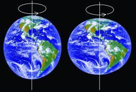 A forma da Terra segundo as duas mecânicas.