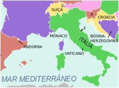 Localização da Itália