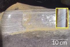 DICAS VINDAS DA ARGILA - Entre as evidências que os investigadores encontraram para um ambiente frio de sedimentos há 3,5 bilhões de anos atrás estavam os varves. Varves são bandas sazonais que se formam quando lagos congelam a cada inverno, retardando a sedimentação.
