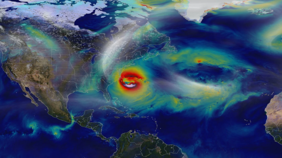 Visualização da NASA de Superstorm Sandy (NASA)