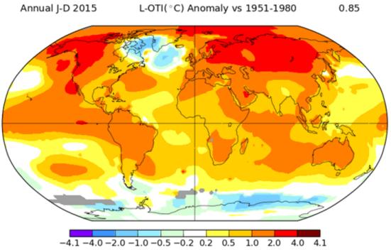 Porque a Islândia é tão fria? NASA / GISS