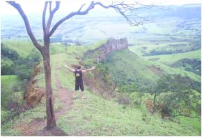 Cuesta na região de Itirapina, charqueada piracicaba Campinas, Americana e Limeira (São- Paulo)