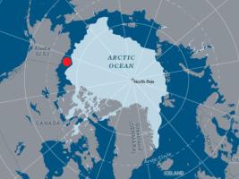 Localização do Mar de Beaufort