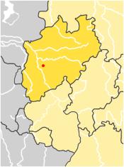 Localização do Vale de Neander na Alemanha.