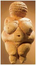Deusa Vênus de Willendorf datada de 24-22 mil anos.