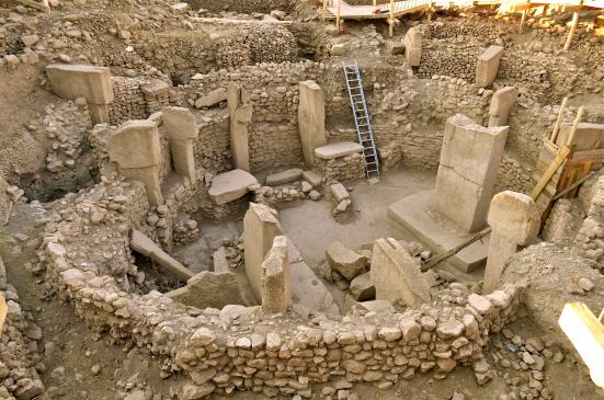 Sítio de escavação em Göbekli Tepe (Turquia)
