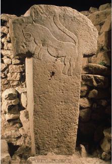 Um dos pilares de Göbekli Tepe (Turquia)