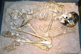 Menina Magdalenian é o nome comum para um esqueleto de um início de namoro humano moderno a partir de 13.000 a 11.000 aC, no período Magdalenian. Os restos foram descobertos em 1911 na região de Dordogne, no sudoeste da França em uma caverna de calcário conhecido como o abrigo de pedra Cap Blanc. [1] A descoberta foi feita quando um operário levou uma picareta na face do penhasco no abrigo de pedra, quebrando o crânio . [2] é o mais completo esqueleto do Paleolítico superior na Europa do Norte.