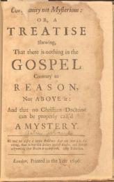 Christianity Not Mysterious de John Toland. Clique para ampliar
