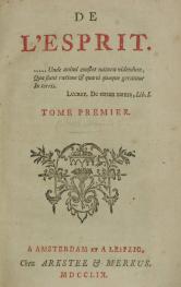 De L'Esprit de Helvétius. Clique para ampliar