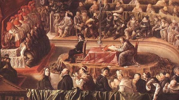 Representação do Tribunal do Santo ofício.