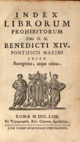 Index Librorum Prohibitorum. Clique para ampliar