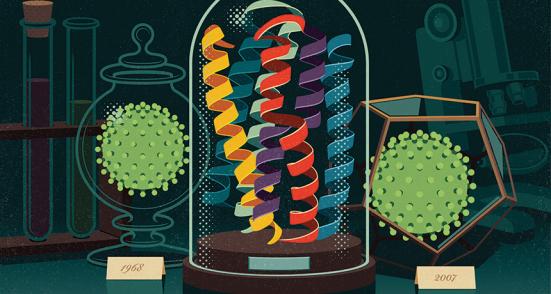 Explosão do passado - Para saber como proteínas de hoje evoluíram, os cientistas estão a reconstruindo moléculas antigas. Por: James Provost