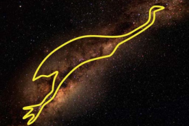 Tchingal é o emu que pode ser visto na Via Láctea. (Fornecido: Barnaby Norris)