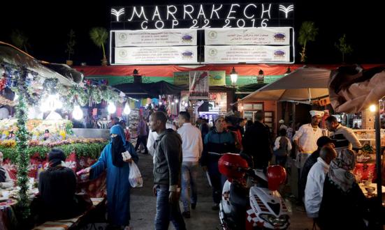 Os delegados da Conferência das Nações Unidas sobre Mudanças Climáticas de 2016 em Marrakech ficaram em estado de choque e descrença. Fotografia: Youssef Boudlal / Reuters