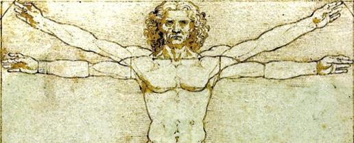 Homem Vitruviano por Leonardo da Vinci (Wikimedia)